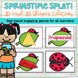 2D and 3D Shapes Game - Springtime SPLAT!