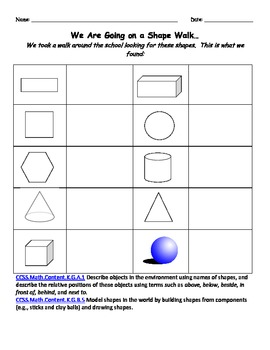 2D and 3D Shapes Summative Assessment Packet