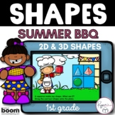 2D Shapes and 3D Shapes BOOM Cards - Summer