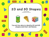 2D and 3D Shapes TWO Interactive Smartboard Lessons
