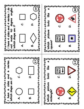 2D and 3D Shapes Task Cards