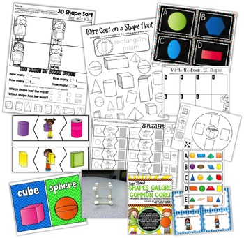 2D and 3D Shapes Teaching Resource BUNDLE