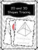2D and 3D Shapes Tracing and Play Dough Mat