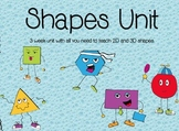 2D and 3D Shapes Unit