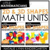 2D and 3D Shapes Unit Bundle | Kindergarten Guided Math