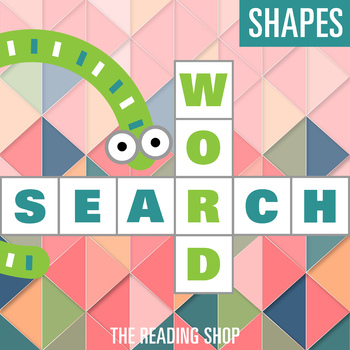 2D and 3D Shapes Word Search Puzzle - 3 Levels Differentiated