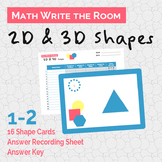 2D and 3D Shapes Write the Room