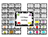 2D and 3D Shapes and Attributes Matching Games