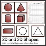 2D and 3D Shapes  and Data Sheet