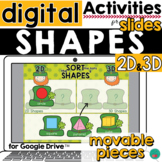 2D and 3D Shapes for Google Slides DISTANCE LEARNING