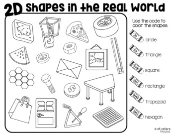 2D and 3D Shapes in the Real World Roll and Cover