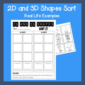 2D and 3D Sort- Real Life Examples