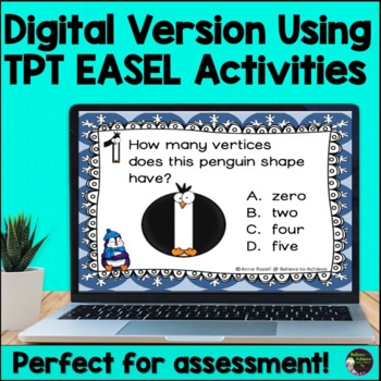 2D and 3D Task Cards  (Penguin Theme)