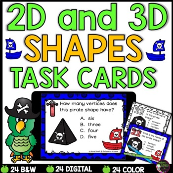 2D and 3D Task Cards  (Pirate Theme)