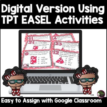 2D and 3D Task Cards  (Valentine's Day Theme)
