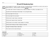 2D and 3D Vocabulary Quiz (Less Challenging)