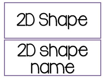 2D and 3D shape fun! Geometry Unit