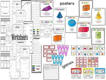 2D and 3D shape packs - BUNDLE!
