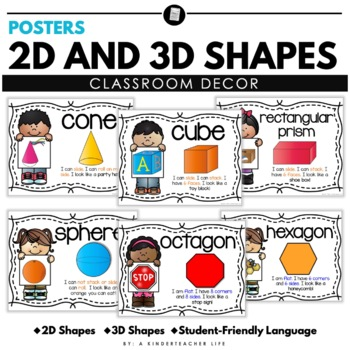 2D and 3D shape poster