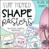 2D and 3D shape posters // Boho Ocean Classroom Decor