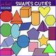 Shape Clip Art - 2D and 3D Shape Cuties Bundle {jen hart Clip Art}