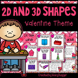 2D and 3D Shapes Valentine Themed Task Cards