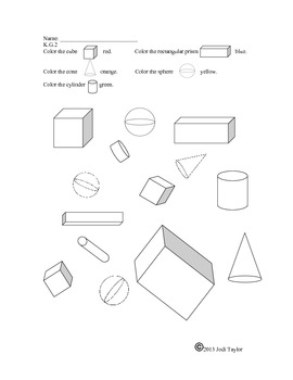 2D and 3D shapes: Week of Homework Sheets
