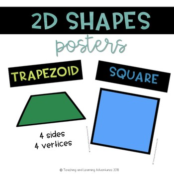 2D and 3D shapes and objects poster bundle