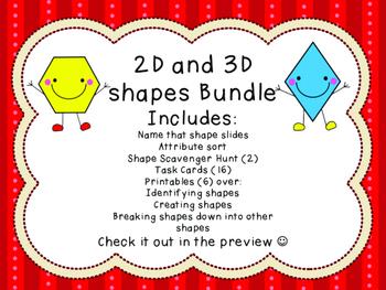 2D and 3D shapes bundle