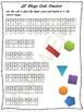 2D and 3D shapes code cracker activity