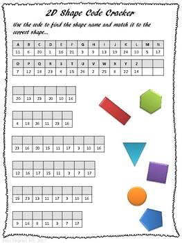 2D and 3D shapes worksheet