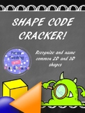 2D and 3D shapes worksheet