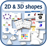 2D and 3D shapes lesson and activity pack