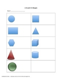2D and 3D shapes notes page