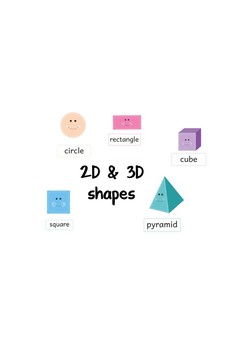 2D and 3D shapes with labels flashcards