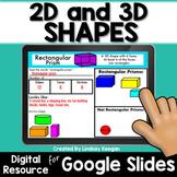 2D and 3d Shapes Digital Activities for Google Classroom D