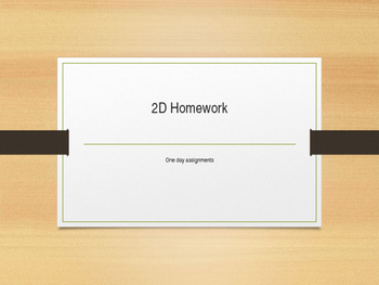 2D drawing assignments