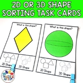 2D or 3D Shapes Activity | Task Boxes for Special Education