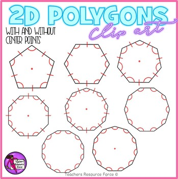 2D polygons with congruence lines Clip Art clipart