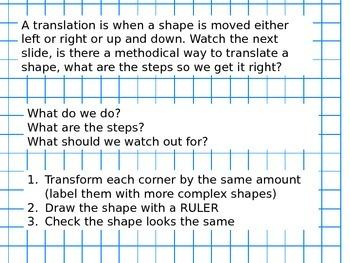 2D shape Translations
