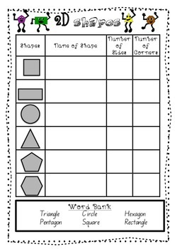 2D shape Worksheets