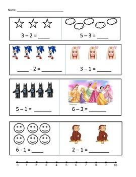 Fun subtraction worksheet