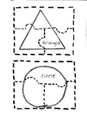 2D shape cut and glue puzzle