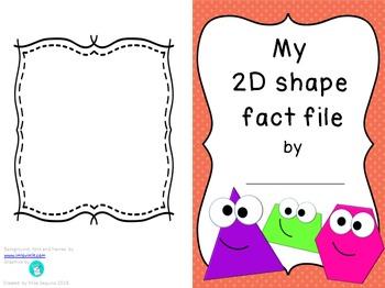 2D shape fact file activity