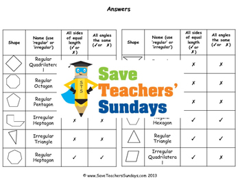 2D shape lesson plans, worksheets and more