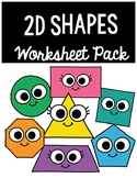 2D shape worksheet pack