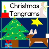 2D Shapes Center Christmas Tangram Puzzles