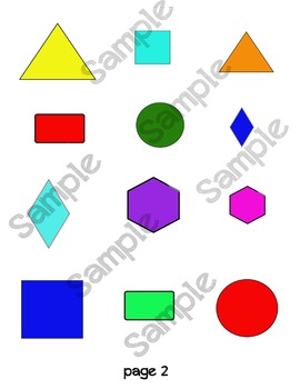 2D shapes draw and create activity sheets