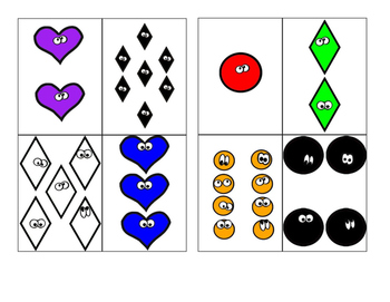 2D shapes go-fish