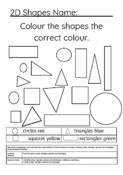 2D shapes in different orientations